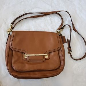 Coach Vintage Cognac Brown Leather Crossbody